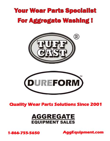 Aggregate Equipment Sales: Washing Equipment Wear Parts