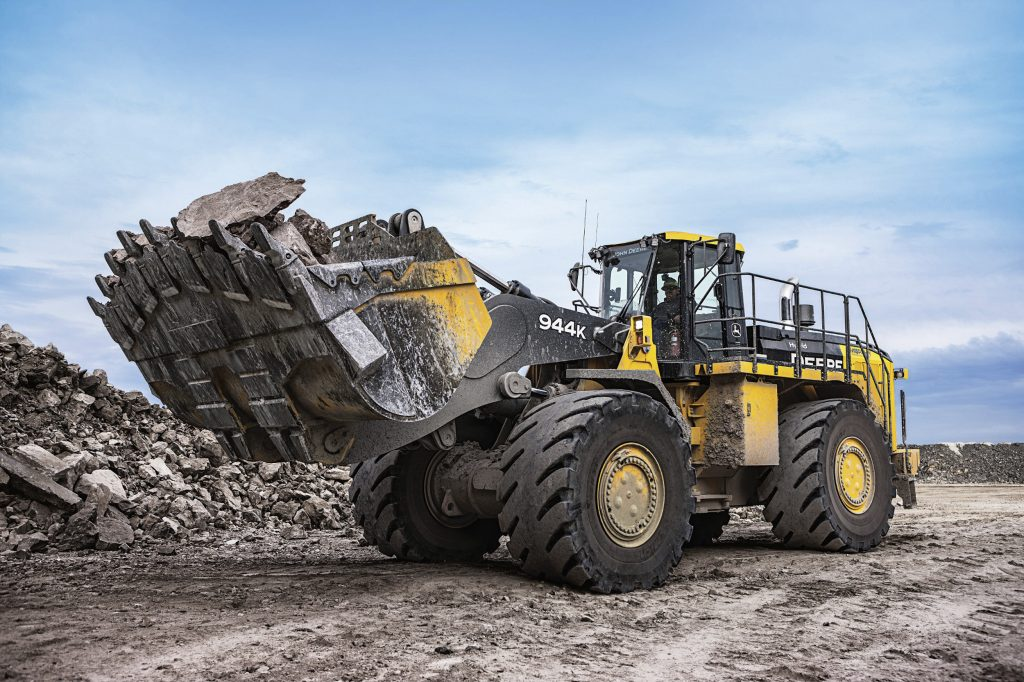Updated John Deere 944K hybrid wheel loader boasts Final Tier 4 engine technology with even greater fuel economy benefits