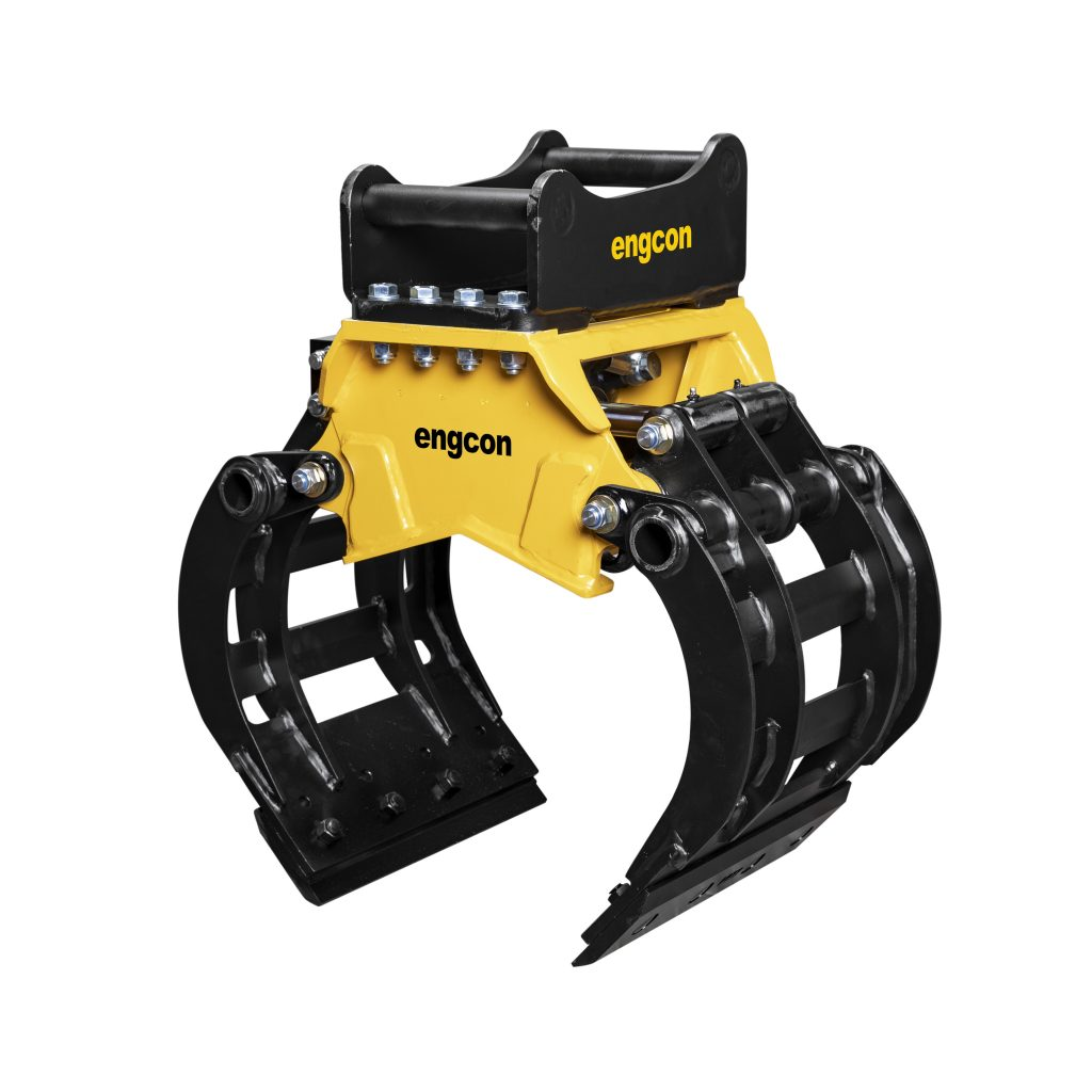 Engcon introduces new mini-excavator sorting grab meets high demand from market