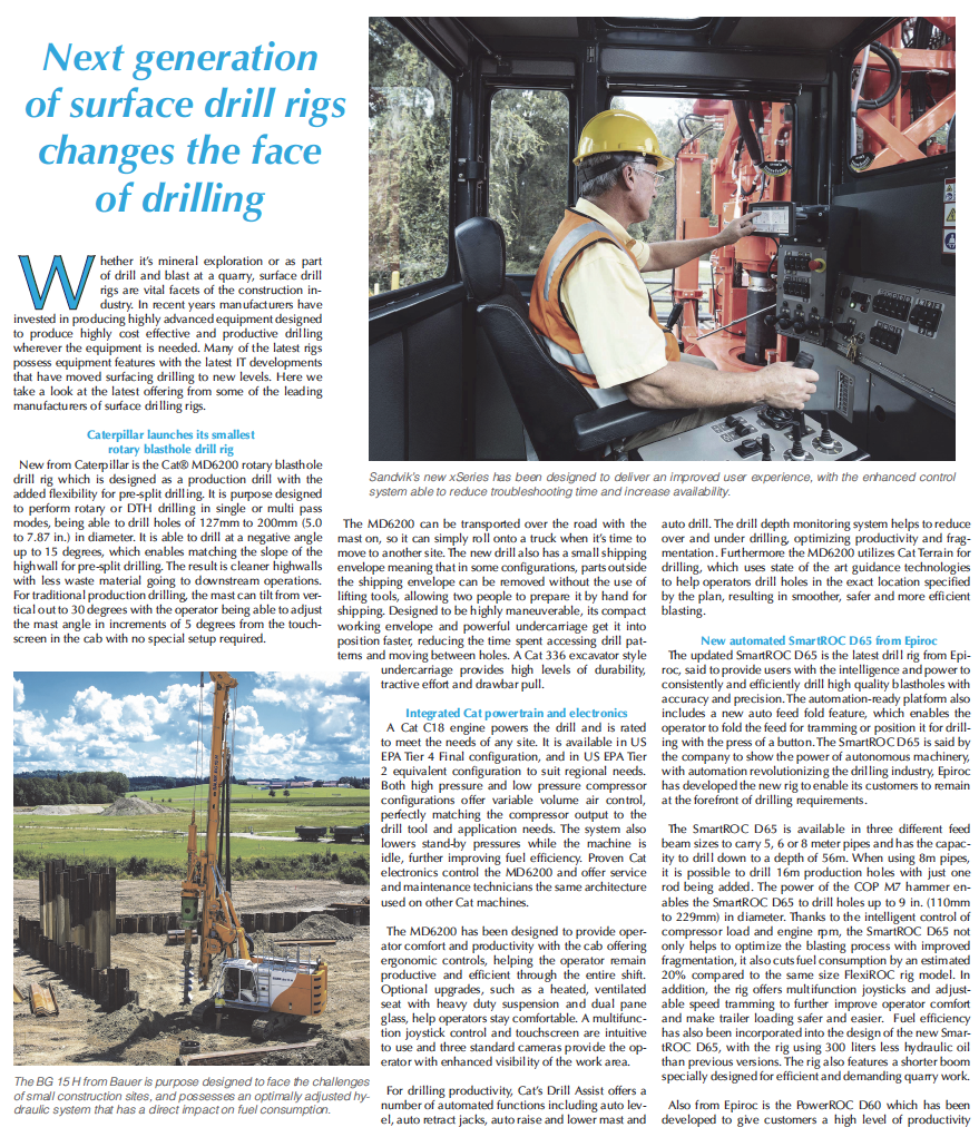 Next generation of surface drill rigs changes the face of drilling