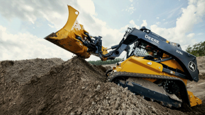John Deere debuts industry's first compact machine with integrated grade control
