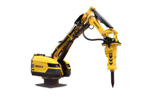 Brokk introduces Pedestal Boom  Plug-and-play for efficient breaking