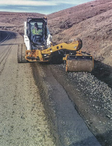 Road Widener brings heightened safety to road crews with Offset Vibratory Roller attachment